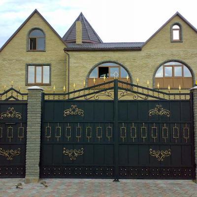 Распашные ворота, художественная ковка